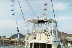 SMOKER boat - Marlin flags - Cape Verde